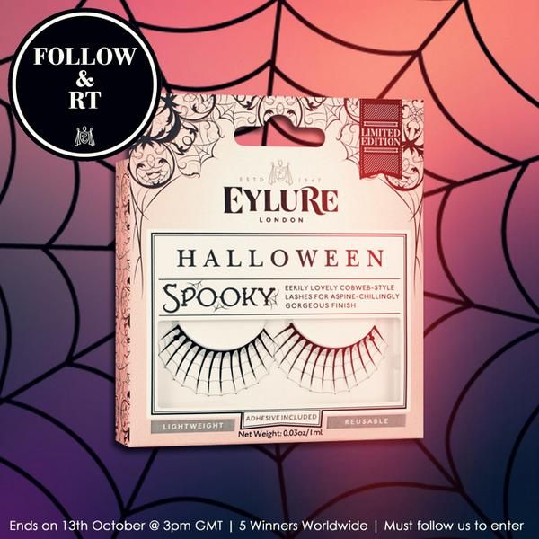 Follow & RT for a chance to be 1 of 5 lucky winners of our #Halloween lashes 'Spooky'!