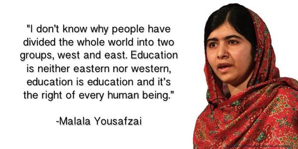 Education activist Malala Yousafzai is the youngest recipient ever of the Nobel Peace Prize. #ExperienceHistory http://t.co/GGtD3mQbxl