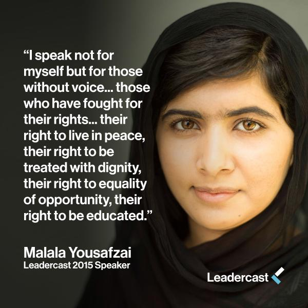 Congrats #Malala on your #NobelPeacePrize win! Excited to hear from you at @Leadercast 2015! http://t.co/SE1x6wie1M http://t.co/QhThvRYSaM