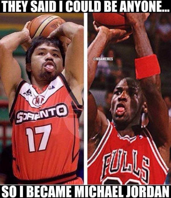 """Funny Basketball on Twitter: """"Michael Jordan vs Manny ..."""