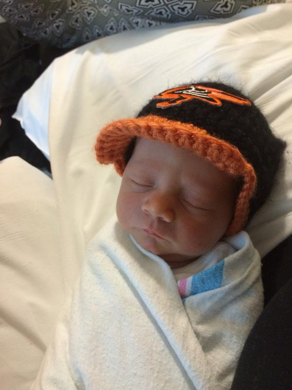 Lil guy resting up for the game. #Orioles http://t.co/F5l1SYboSV