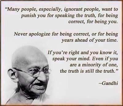 If Your Right & You Know It Speak Your Mind;#Gandhi #MLK #JohnLennon #IAMPEACE #Hour4Peace @manjushriNL @chopracenter http://t.co/i2luqqAqyO