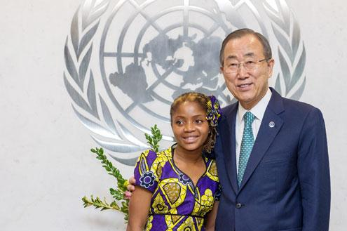 A student asked Ban Ki-moon if she could become Secretary-General. His response: http://t.co/11OUbpVAtm #dayofthegirl http://t.co/7BzfzIjepU