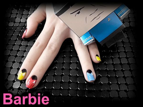 Barbie Nail Art On Twitter Star Trek Nails Nail Design Of