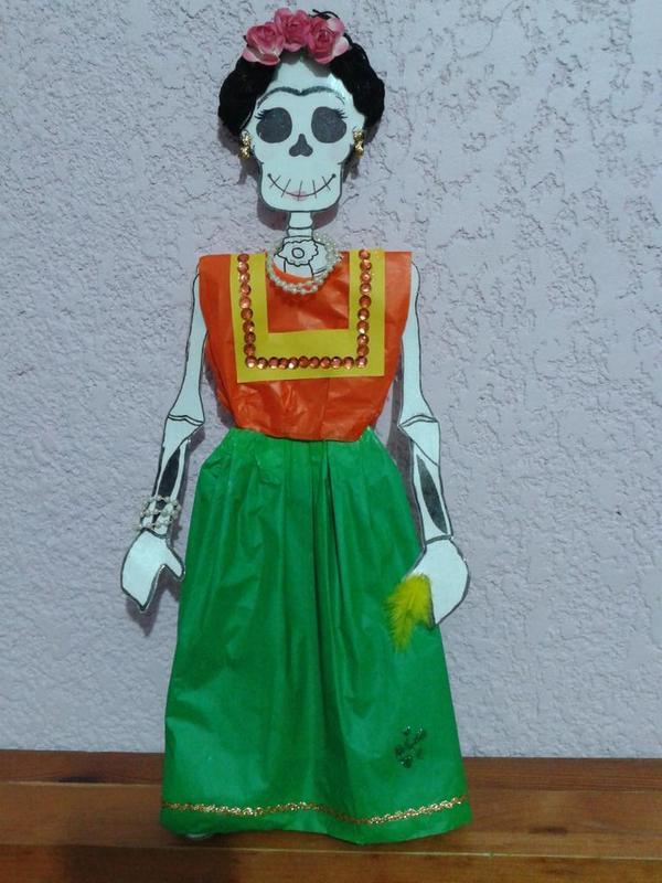 Jane Doe On Twitter Calavera Vestida Frida Kahlo