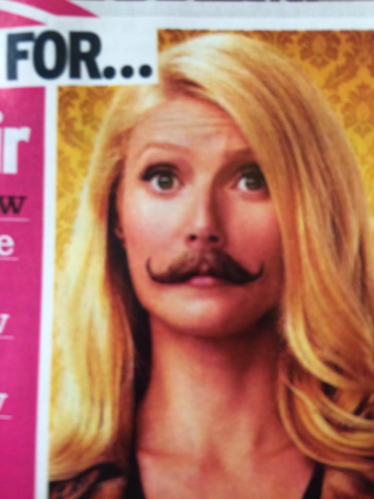 Gwyneth rockin the tash. http://t.co/MA0jixSJ1w