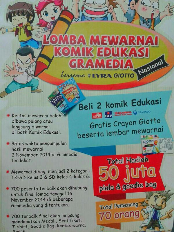 Gramedia Lombok On Twitter Ayo Ikuti Lomba Mewarnai Komik Edukasi