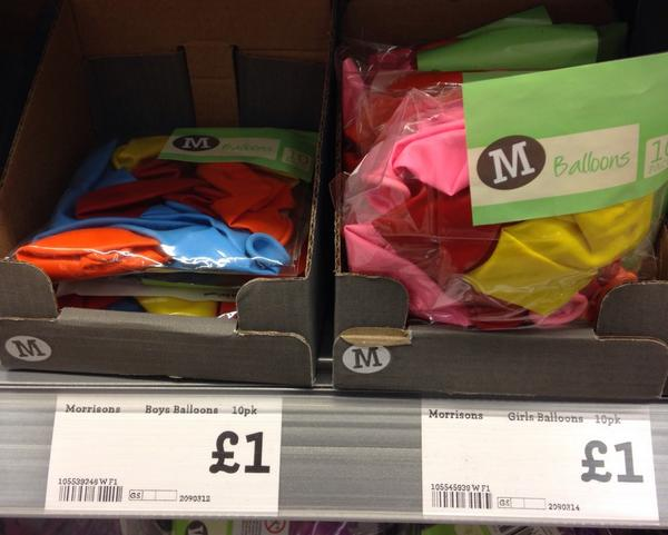 Erm @Morrisons, I understand categorising balloons as Haloween. Why boys balloons and girls balloons? @LetToysBeToys http://t.co/he3oUhkPDT