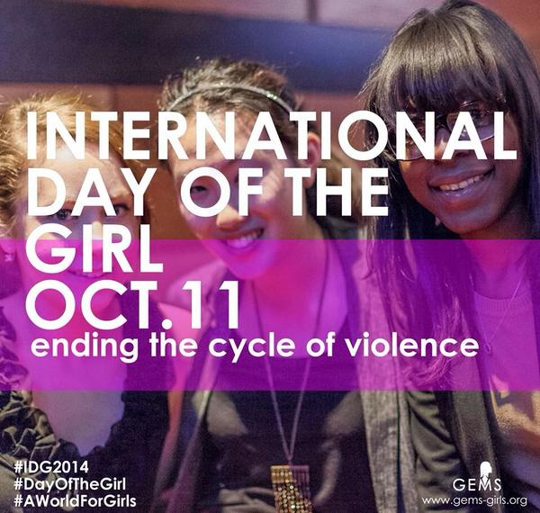 Today we're celebrating International Day of the Girl - ending the cycle of violence means a better world for girls. http://t.co/RYPAYXXrbS
