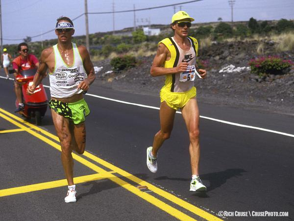 25 years ago - #IronWar between @MarkAllenGrip and @DaveScott6x at @IronmanTri. #IronWar25 #IMKona http://t.co/ayndIVcgQQ