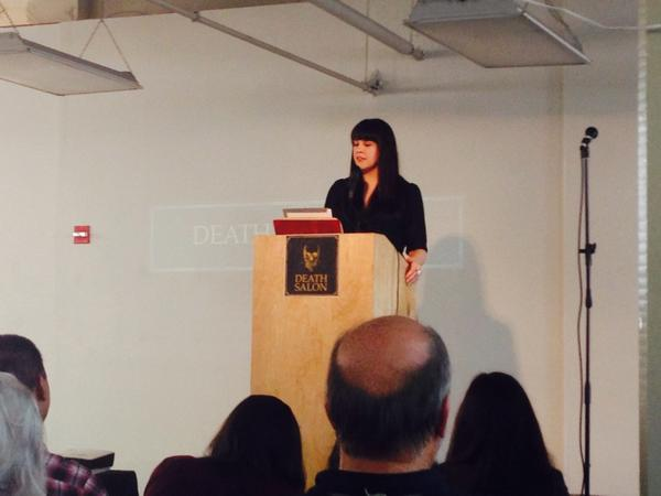 @TheGoodDeath opening #deathsalonsf Death Salon: engaging with death's past, present and future. http://t.co/WvXAXtohvJ