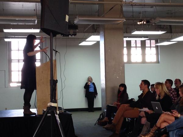 @TheGoodDeath Caitlin Doughty announcing the start of Death Salon: SF. We <3 her... #DeathSalonSF http://t.co/vijdtI8UhW