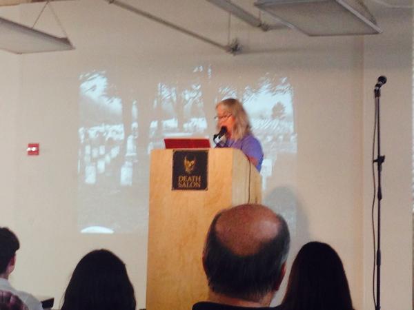 @morbidloren starts us off with a talk on San Francisco's pioneer cemeteries #DeathSalonSF http://t.co/Ecqoq1BYXl
