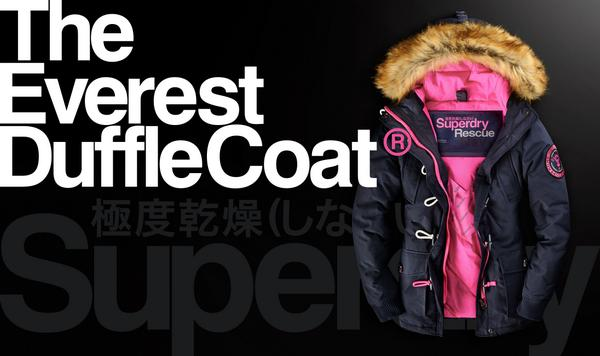 Womens Our Duffle On Out coat Everest Superdry For Twitter Check wIXxAf