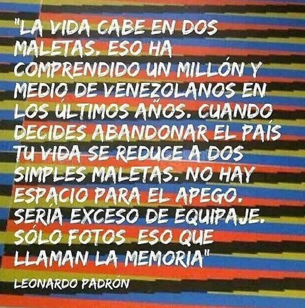 Tomado de palabras de Leonardo Padron