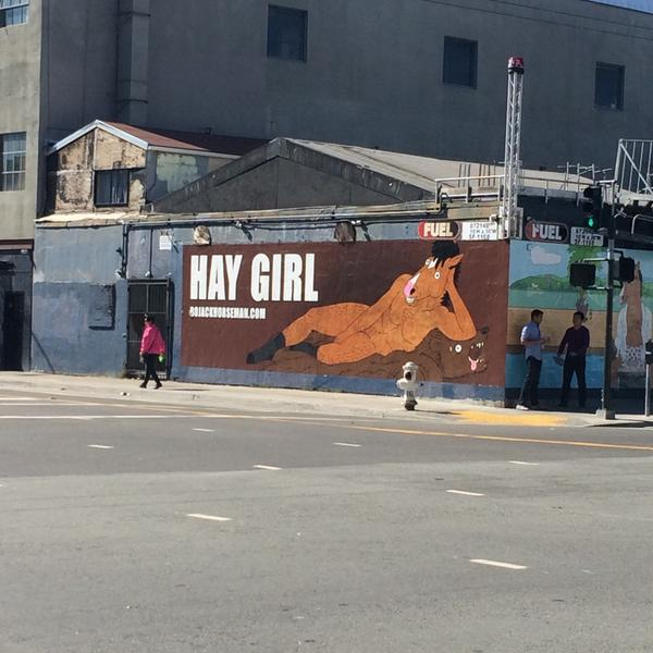I think I found my new favorite corner in SF (11th & Folsom) thanks to @BoJackHorseman. http://t.co/8UNQjGLuN1