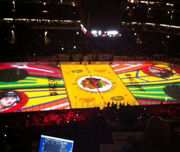 Pretty colors... #Blackhawks http://t.co/vFVQhIFiJf