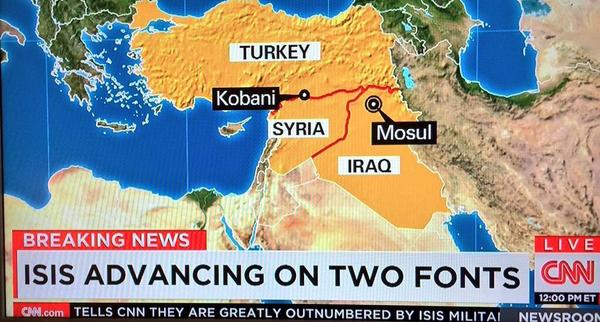 If ISIS take Helvetica I'll be pissed (via @frasermatthew) http://t.co/eCSmiRHYJC