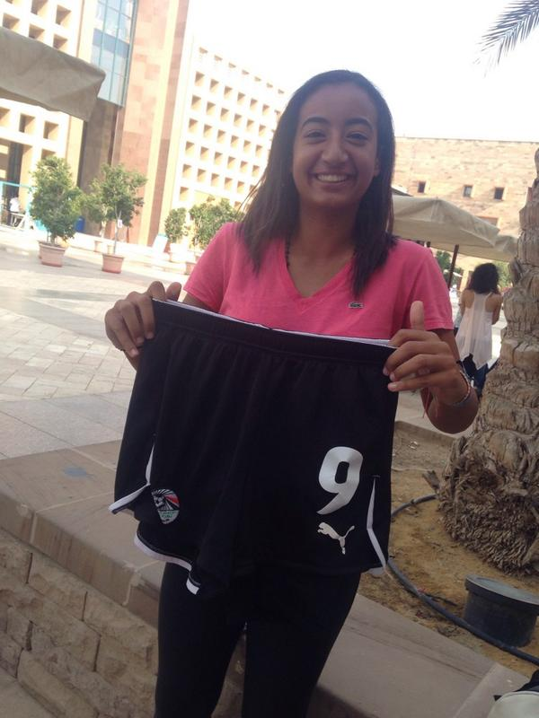 Mariam Ali, AUC soccer player, says 'AUC has proven its excellence in the national tournament' #JRMC2202 #JRLweb http://t.co/1Pbc5ycWZL