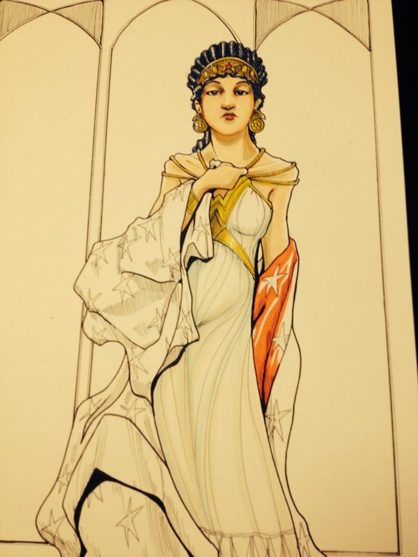 """Classic"" Wonder Woman #NYCC14 #AthenianPrincess http://t.co/PfQgelkI7i"