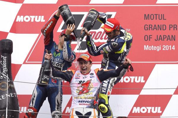 @YamahaMotoGP would like to congratulate with @marcmarquez93 for winning the 2014 MotoGP World Championship! http://t.co/YNo8aYFq33