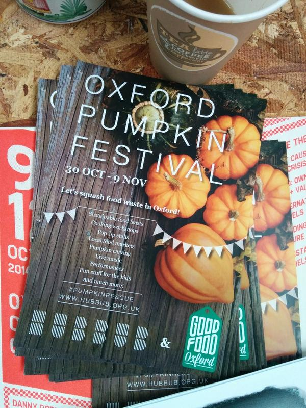Check out the lovely new flyer for Oxford Pumpkin Festival, proudly on display at @HOTC_Oxford today! #pumpkinrescue http://t.co/D91lzm90BG