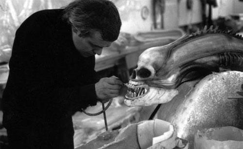 AlteredQualia on Twitter  Behind scenes photos from Alien movie (HR Giger working on skull with carapace removed actor in Xenomorph costume) ... & AlteredQualia on Twitter: