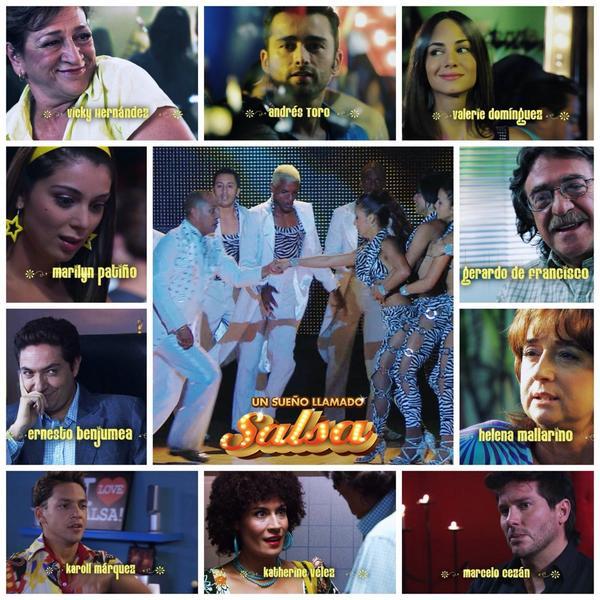 ¡El maravilloso elenco de #UnSueñoLlamadoSalsa! @ebenjumea @Marilynpatino1 @ANDRESTORO1 @valeriedomi @karollMarquez http://t.co/X3nrx8qNsv