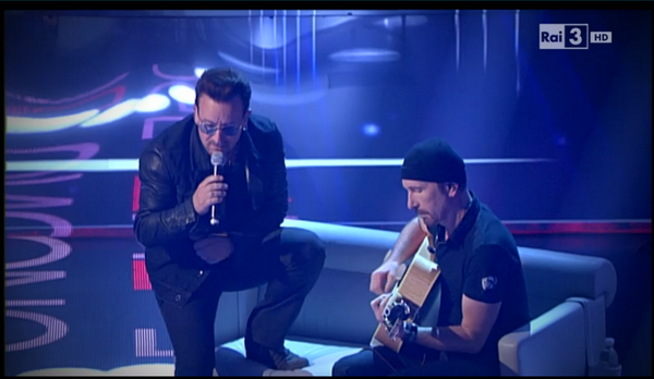 Bono & Edge performing on Italian TV http://t.co/l0AlvwQQEU via @i_Zepeda