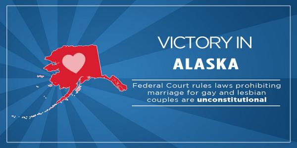 BREAKING: A federal judge has struck down Alaska's marriage ban: http://t.co/I2QckRFTkk  #marriagemomentum http://t.co/XGjvsgmIuj