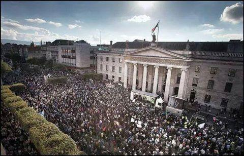 Meanwhile RT @ZaneZodrow: #Irishwater protest in Dublin 11Oct. 100K + protesting against the PTB. #Right2Water http://t.co/zrjcIeF0EB