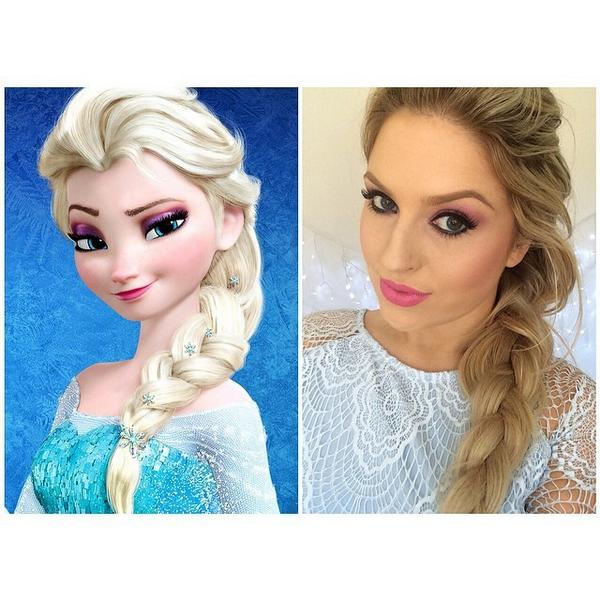 shaaanxo on twitter filmed a super easy elsa inspired tutorial for halloweendress ups perfect for beginners with makeup or young - Halloween Makeup For Beginners