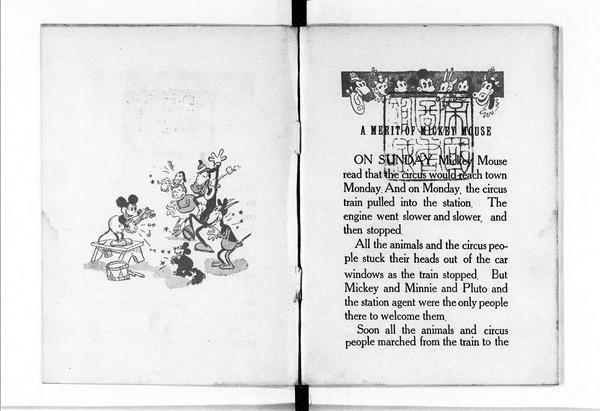 昭和9年のミッキーマウス。『ミツキーの手柄』(文英堂出版社、1934年)。ちょうど80年前。「近代デジタルライブラリー」で全文が読める。→http://t.co/JFSHUCxTPo http://t.co/YH8a5p5KMP