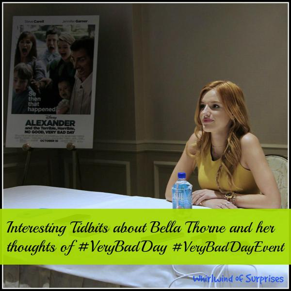 #VeryBadDayEvent interview with Bella Thorne, her little known facts and thoughts on Disney's Very Bad Day