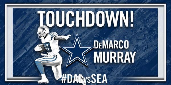 """@dallascowboys: TOUCHDOWN @DeMarcoMurray !!!! #DALvsSEA http://t.co/Zywtm2Oqom"""