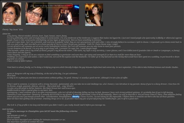 Online audio chat room