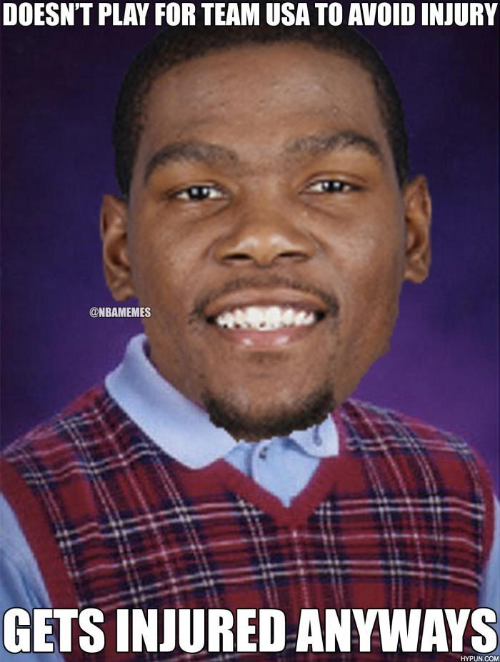 "NBA Memes on Twitter: ""Bad Luck, Kevin Durant! http://t.co ..."