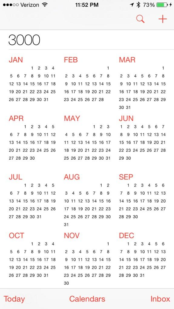 Year Calendar Look : Rob on twitter quot just realized the calendar iphone