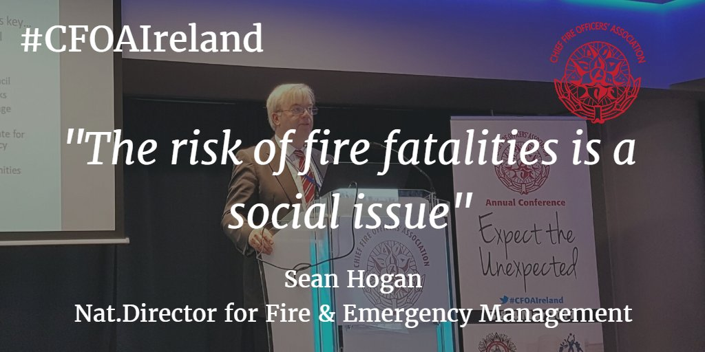 Sean Hogan. National Directorate for Fire and Emergency Management. #CFOAIreland