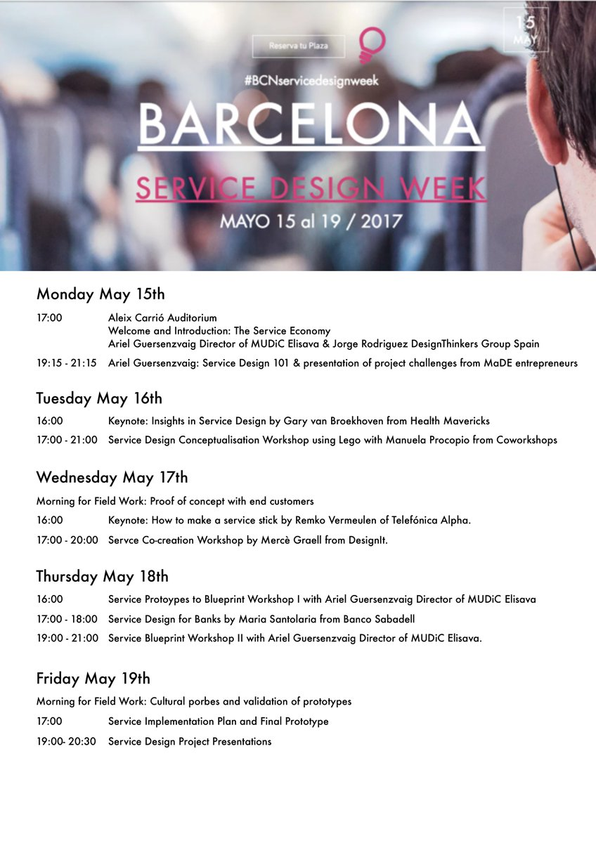 Elisava on twitter llega la barcelona service design week descubre los eventos y consigue tu entrada httpstaifze2zn74 dtgspain bcnservicedesignweek httpstvhaw2qvvul malvernweather Images