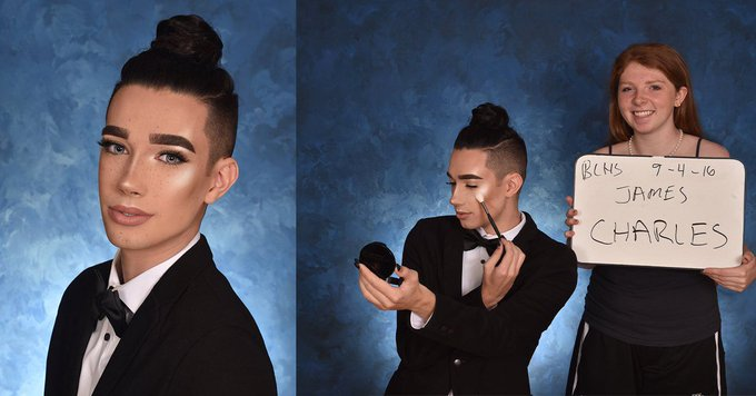 This Teen Who Retook His Senior Photo to Make His Highlighter Pop Is #Goals
