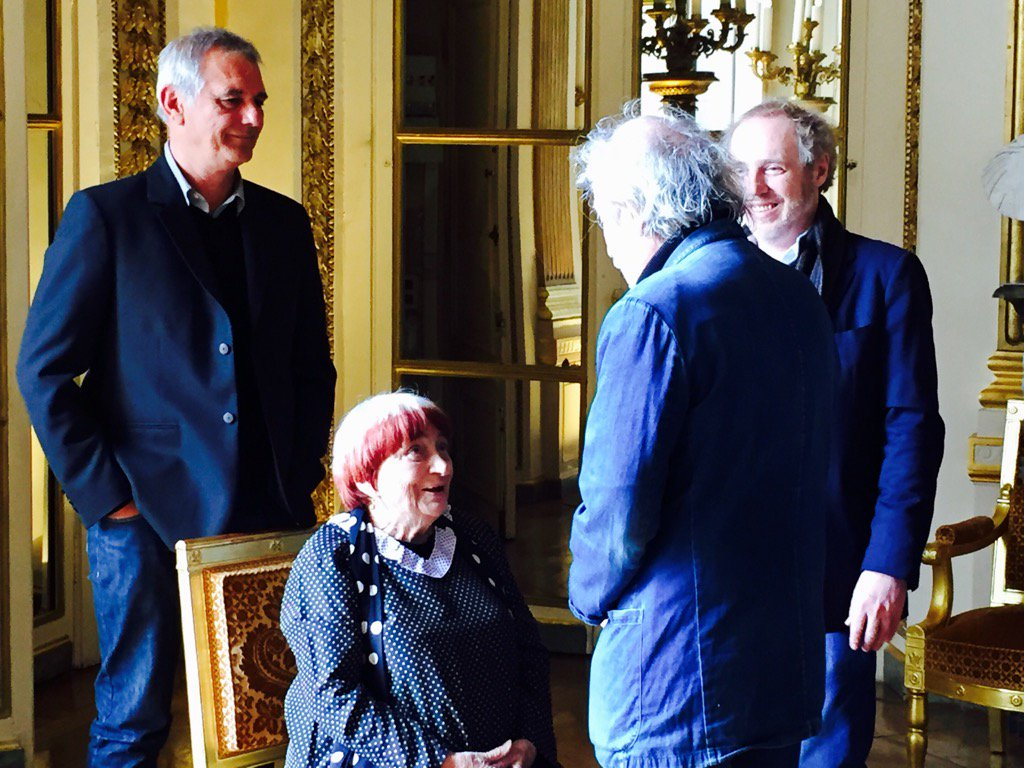#LaurentCantet, #AgnesVarda, #JacquesDoillon, #ArnaudDesplechin at the French Ministry of Culture. #Cannes2017<br>http://pic.twitter.com/anEt2LeXTc