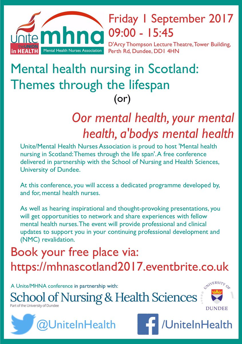 Unite Mhna On Twitter If Youre A Mental Health Nurse Or Mental