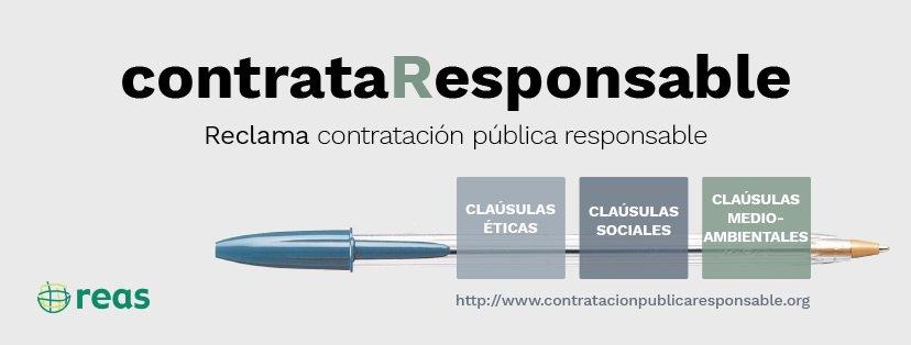 #contrataResponsable reclama que la Administración pública contrate servicios con equidad social, respeten el medio ambiente y sean éticos.