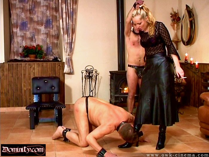 Taking a spanking from my master