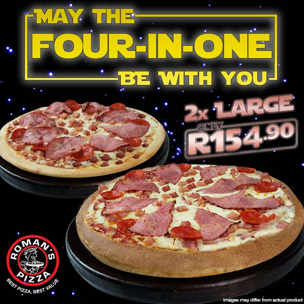 Romans Pizza On Twitter May The 4th Be With You Happy