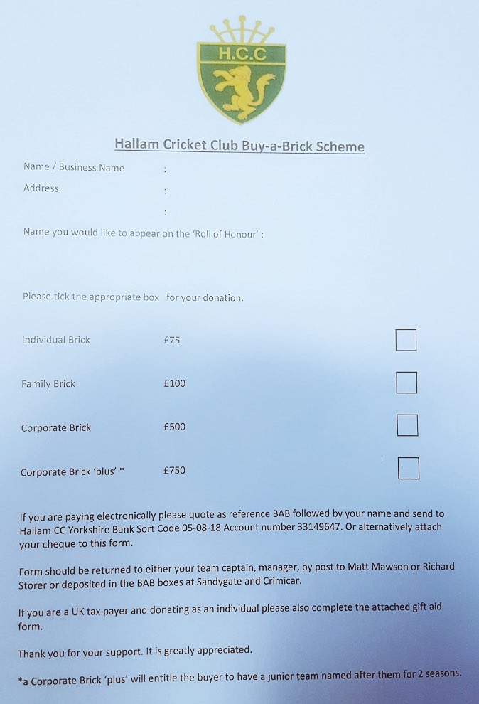 Hallam cc on twitter please see attached for our buy a brick 503 am 4 may 2017 negle Images