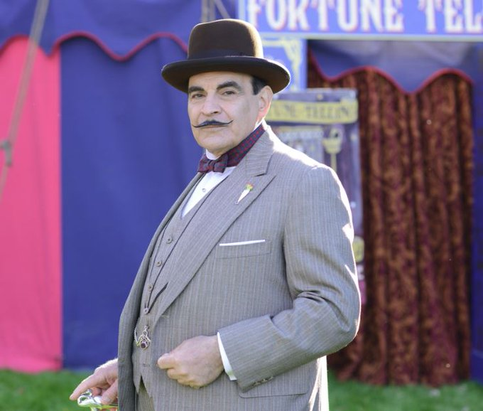 Happy birthday, David Suchet!  The Poirot actor turns 71 today!