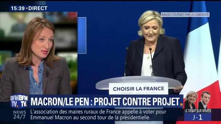 DIRECT 'Macron menace: s'il sert de punching-ball à Marine Le Pen, il quittera le plateau au bout d'une demi-heure' dit @CamilleLanglade