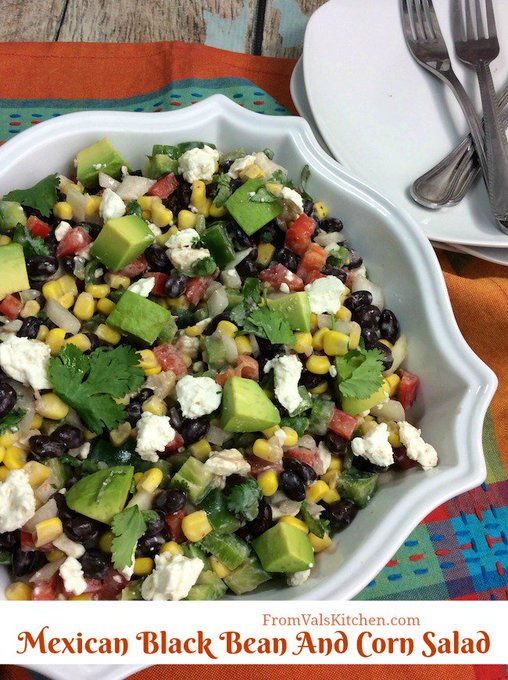 Mexican Black Bean And Corn Salad #Recipe